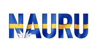 Nauru flag text font