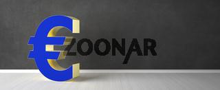 3D euro symbol rendering - Illustration