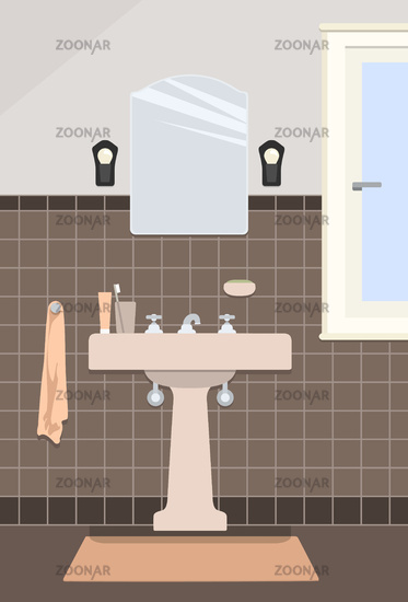 typical vintage bathroom