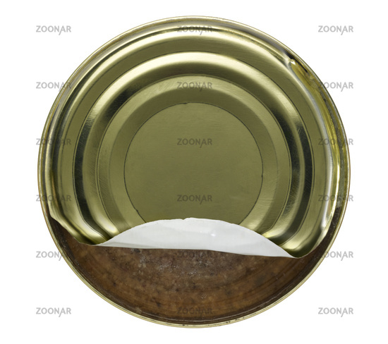 tin can with Kochwurst
