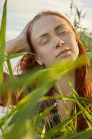 woman at reed