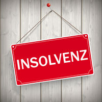 Sign Wooden Background Insolvenz