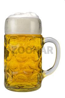 Masskrug vom Münchner Oktoberfest mit Bier
