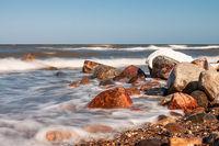 Die Ostseeküste bei Kühlungsborn im Winter