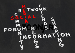 Crossword on the subject social media