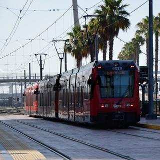 Strassenbahn in San Diego, Kalifornien