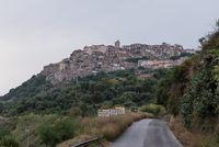 Flair of the Italian city of Nicotera - facades in Calabria