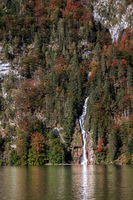 Waterfall at the Koenigssee