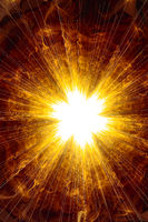 Creative background with powerful and bright abstract sun, decorative image for advertising or designs
