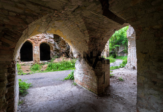 Abandoned Military Tarakaniv Fort (other names - Dubno Fort, New Dubna Fortress) - a defensive structure, an architectural monument of 19th century, Tarakaniv, Rivne region, Ukraine.