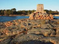 Post Office memorial, Eckerö, Aland