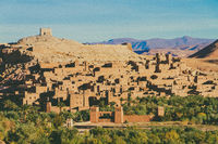 Old desert fortified city of Ait Benhaddou, Ouarzazate, Morocco.