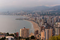 Benidorm aerial view cityscape,  Spain
