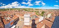 City of Verona aerial panoramic view from Lamberti tower