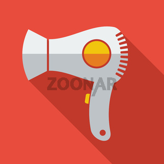 Modern flat design concept icon electric Hair dryer. Vector illustration.