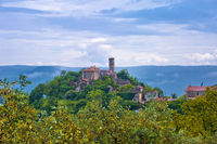 Village of Zavrsje in green landscape of Istria view,