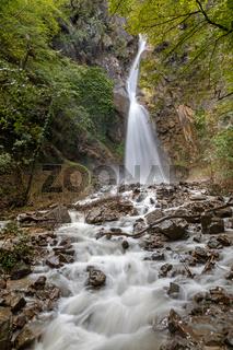 Wasserfall in der Brandisschlucht in Lana bei Meran, Suedtirol