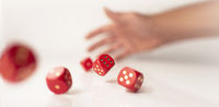 Red Rolling Dices Panorama