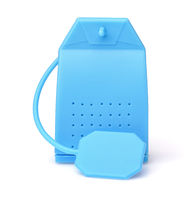 Front view of blue silicone tea Infuser