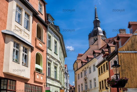 naumburg, germany - 18.06.2019 - old town with the tower of wenceslas church