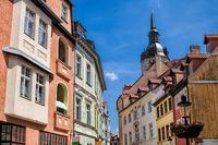 naumburg, deutschland - 18.06.2019 - altstadt mit turm der wenzelskirche