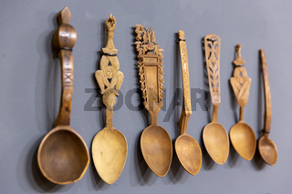 Carved wooden spoons