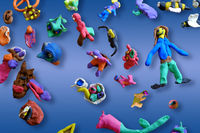 Plasticine figures