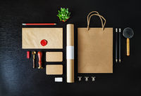 Blank kraft stationery