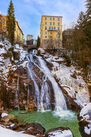 Waterfall in Mountains ski resort Bad Gastein Austria