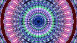 Geometrical Radiant Multicolored Light Pass Through 4k uhd 3d illustration background