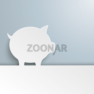 White Paper Piggy Bank Cover