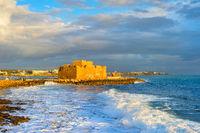 Paphos Harbour Castle, seascape, Cyprus