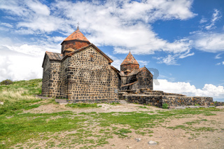 Scenic view of an old church in Armenia
