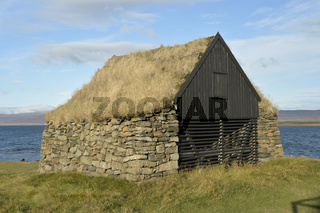 Alte Scheune am Vatnsfjörður, Westfjorde, Island