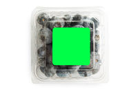 Blueberry in plastic bag