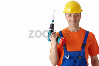 Man with a drill
