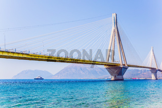 Cable-stayed bridge over the Gulf of Corinth