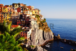 Traditional Mediterranean architecture of Manarola