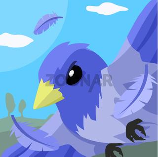 Blue Bird Flight Cartoon