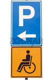 Schild Behindertenparkplatz