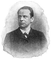 Portrait of Otto Brahm (Otto Abrahamson) - a German drama and literary critic, theatre manager.