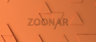 Abstract modern orange triangle background