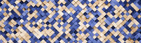 Small Blue and Orange Squares 3D Pattern Background