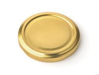 Golden metal jar lid