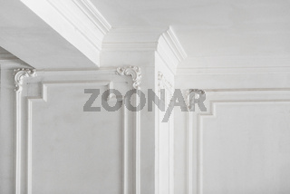 plaster molding in the room