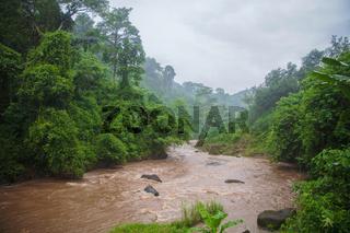 Muddy waters of a Tukad Petanu