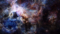 Blue space nebula. Elements of this image furnished by NASA