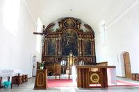 Interior view of the Capuchin Church of St. Maximilian Meran