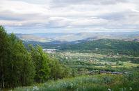 Scenic village in Norway
