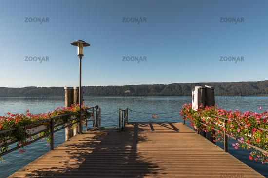 Jetty in Sipplingen, Lake Constance, Baden-Wuerttemberg, Germany